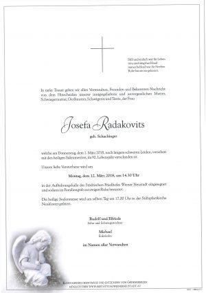 Portrait von Radakovits Josefa