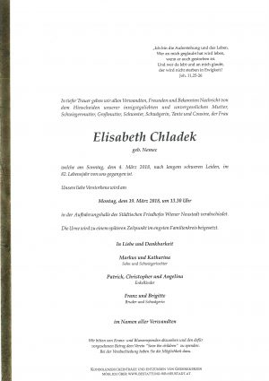 Portrait von Chladek Elisabeth