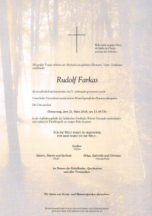 Portrait von Farkas Rudolf