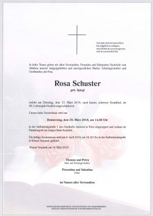 Portrait von Schuster Rosa