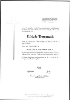 Portrait von Elfriede Trausmuth