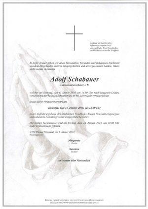 Portrait von Adolf Schabauer