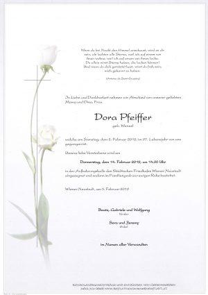 Portrait von Dora Pfeiffer