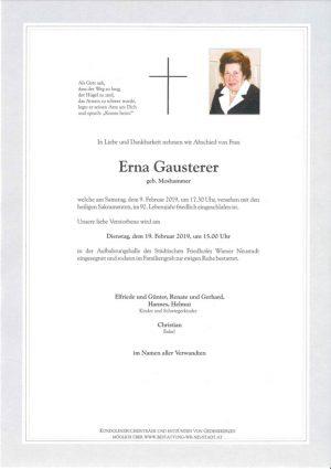 Portrait von Erna Gausterer