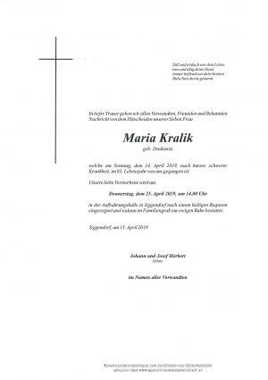 Portrait von Maria Kralik