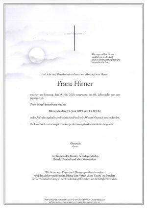 Portrait von Franz Hirner