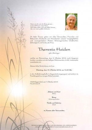 Portrait von Theresia Haiden