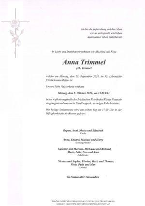 Portrait von Anna Trimmel