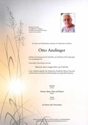 Portrait von Otto Anslinger