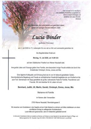 Portrait von Lucia Binder
