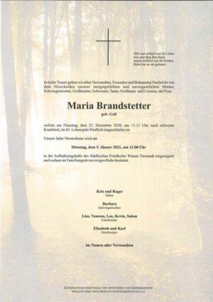 Portrait von Maria Brandstetter