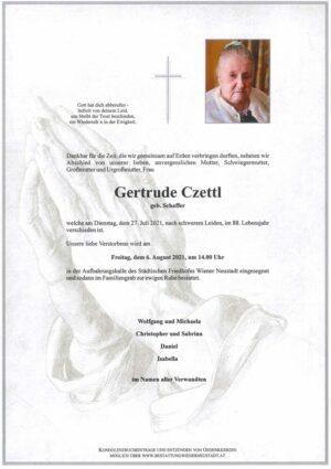 Portrait von Gertrude Czettl