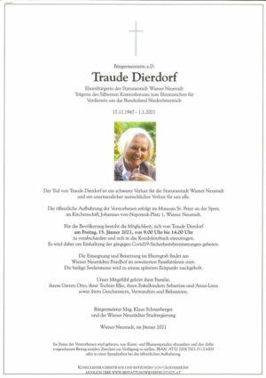 Portrait von Traude Dierdorf
