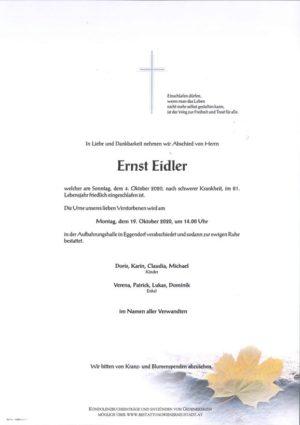 Portrait von Ernst Eidler