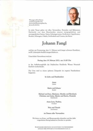 Portrait von Johann Fangl