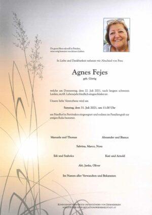 Portrait von Agnes Fejes