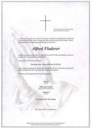 Portrait von Fladerer Alfred