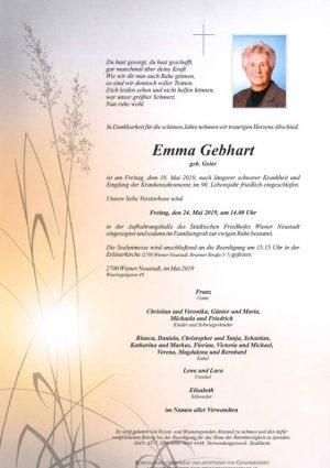 Portrait von Emma Gebhart