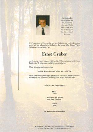 Portrait von Ernst Gruber