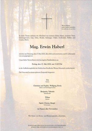 Portrait von Mag. Erwin Haberl