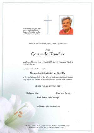 Portrait von Gertrude Handler