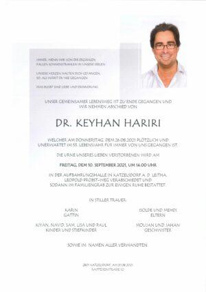 Portrait von Dr. Keyhan Hariri