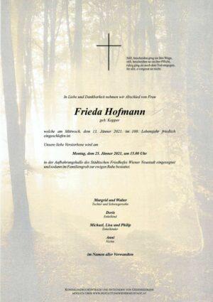 Portrait von Frieda Hofmann