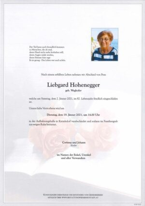 Portrait von Liebgard Hohenegger