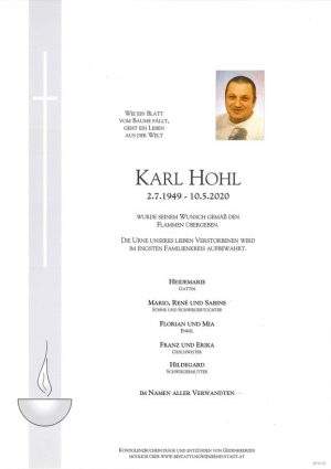 Portrait von Karl Hohl