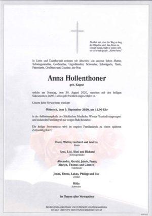 Portrait von Anna Hollenthoner