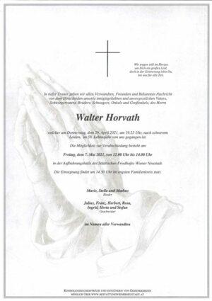 Portrait von Walter Horvath