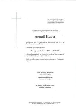 Portrait von Arnulf Huber