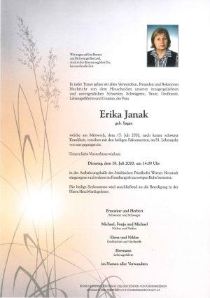 Portrait von Erika Janak