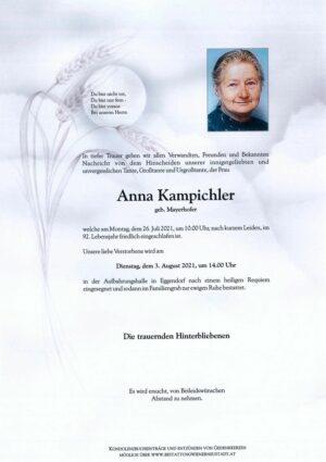 Portrait von Anna Kampichler