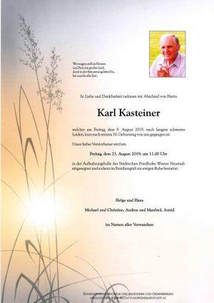 Portrait von Karl Kasteiner