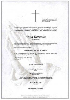 Portrait von Anna Kazanits