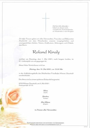 Portrait von Roland Kiraly
