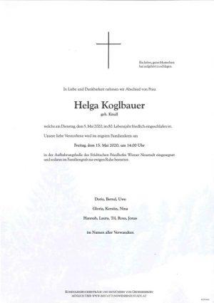 Portrait von Helga Koglbauer