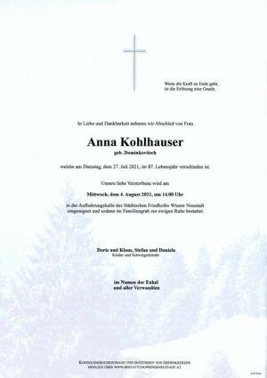 Portrait von Anna Kohlhauser