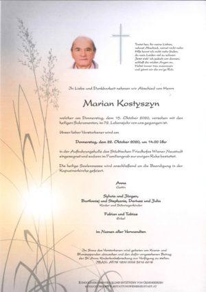 Portrait von Marian Kostyszyn