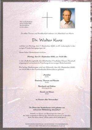 Portrait von Dr. Walter Kurz
