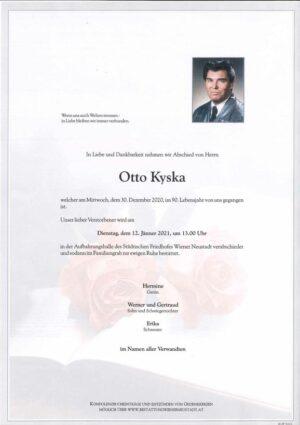 Portrait von Otto Kyska