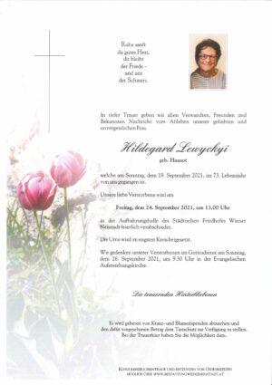 Portrait von Hildegard Lewyckyi