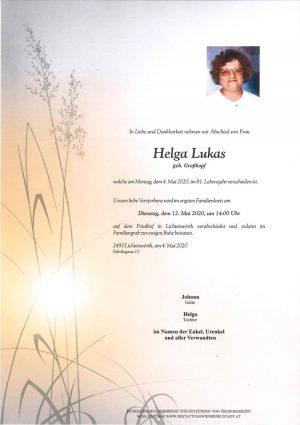 Portrait von Helga Lukas