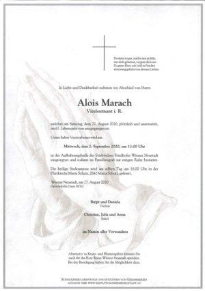 Portrait von Alois Marach
