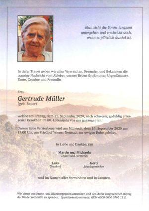Portrait von Gertrude Müller