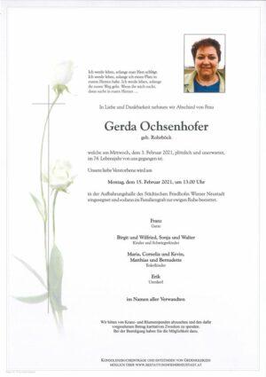 Portrait von Gerda Ochsenhofer