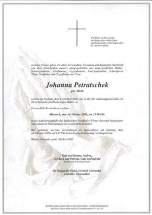 Portrait von Johanna Petratschek