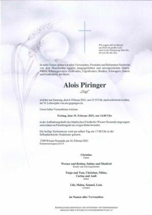 Portrait von Alois Piringer