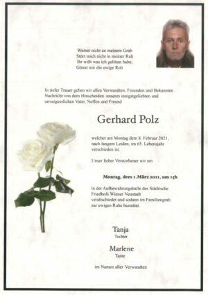 Portrait von Gerhard Polz